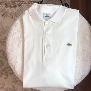 Lacoste Mens XL White Classic Polo